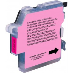 Cartuccia compatibile Brother - Magenta -lc980 / 1100m