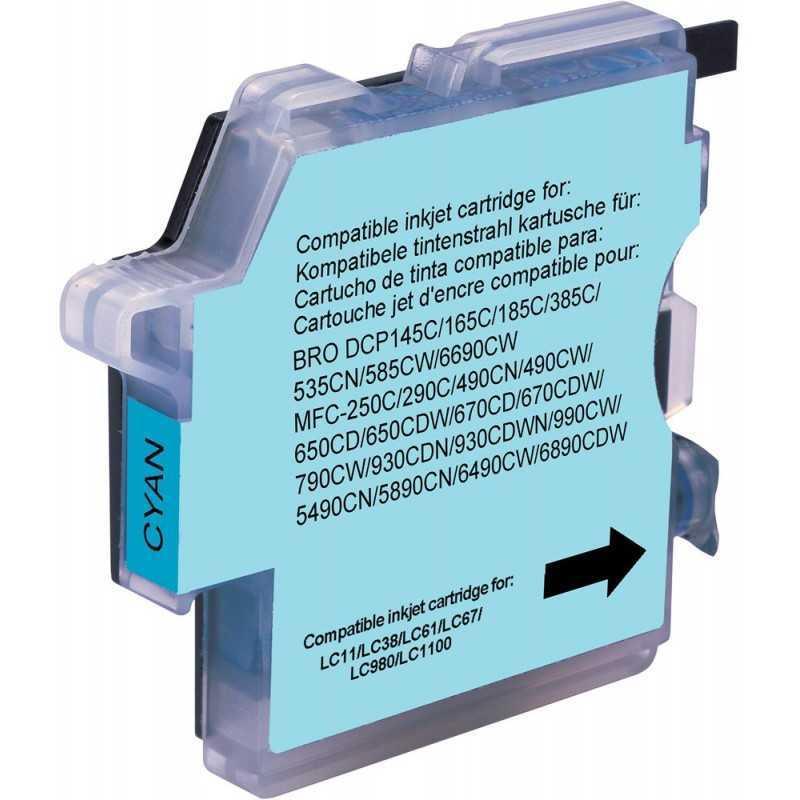 Cartucho compatible Brother - cian -lc980 / 1100c
