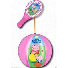 TAP BALL PEPPA PIG RACKET + BALL 20 CM