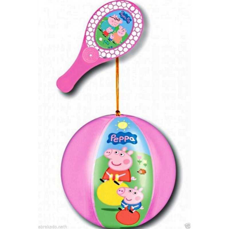 TAP BALL PEPPA PIG RAQUETTE + BALLON 20 CM