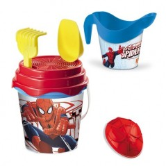 Beach bucket and Spider-man