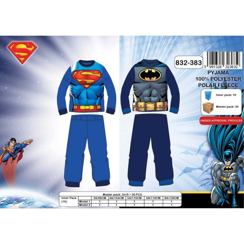 Pyjama polaire long Superman & Batman