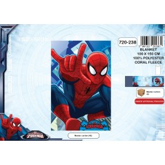Couverture coral fleece Spiderman