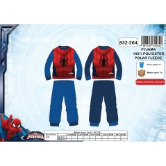 Pyjama polaire Spiderman - 3 à 8 ans
