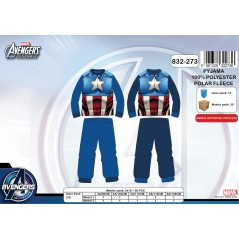 Pajamas fleece Avengers - 3-to-8 years