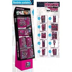 display 132 parts STOCKED RENTREE SCOLAIRE MONSTER HIGH