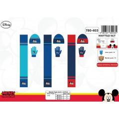 Set 3 pièces Bonnet + écharpe + gants Mickey Disney