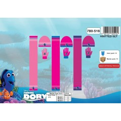 Set 3-piece Cap + scarf + gloves Dory