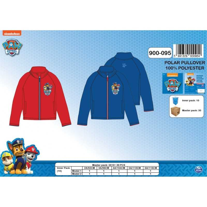 Fleece sweatshirt Hoodie-Fleece-paw-patrol