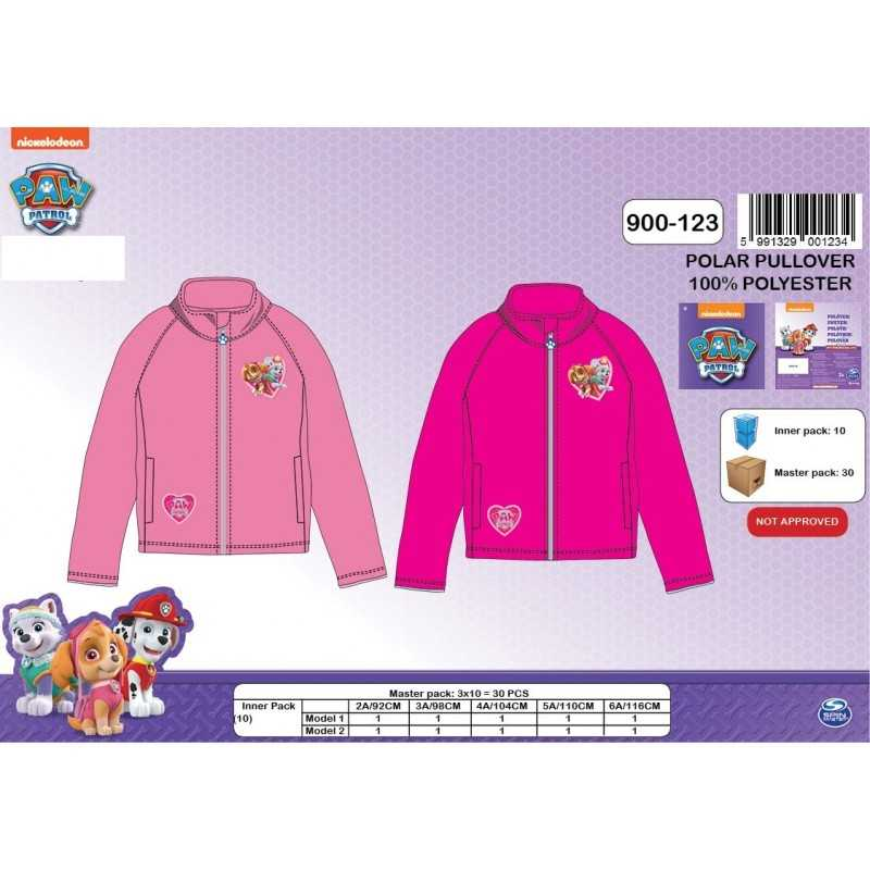 Sweat Polaire Paw Patrol fille