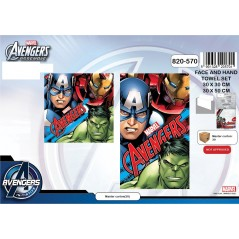 Set de 2 serviettes Avengers marvel