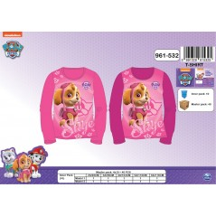 T-shirt long sleeve Paw Patrol girl