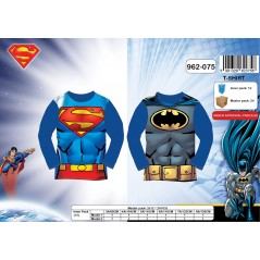 Long sleeves T-shirt Superman and Batman