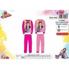 Pajamas fleece long Soy Luna - 4 to 12 years