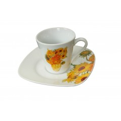 Coffee cup and saucer Van Gogh porcelain