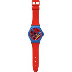 Large Spiderman clock shaped watch
