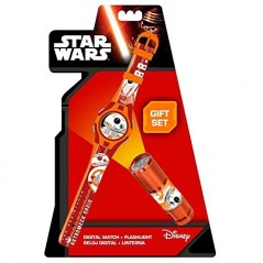 Digital watch Star Wars with flashlight