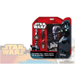 Set Star Wars cahier + montre + stylo 6 couleurs