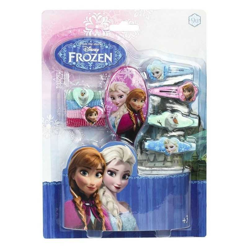 Box to hair accessories with brush - The Snow Queen