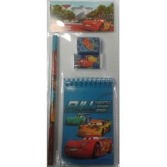 Stationery Set 4 pieces Disney Cars