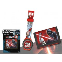 Set portefeuille + montre digitale Star Wars