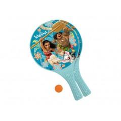 Vaiana Disney-Lot de 2 raquettes + balle