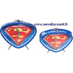 alarm clock metal Superman