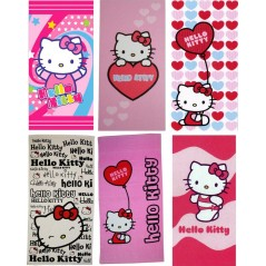 drap de plage hello kitty Dimensions : 150cm x 75 cm 6 modèle assortiment