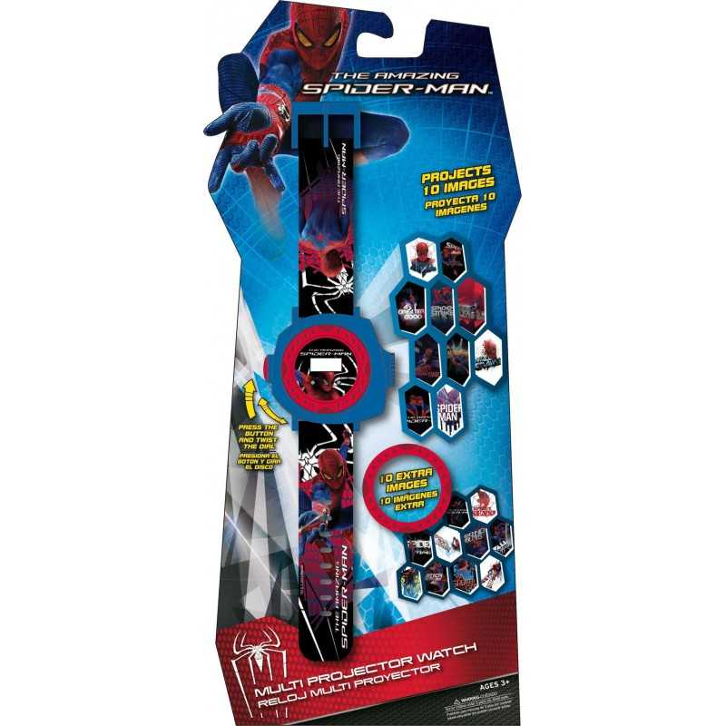 Spiderman projector watch with 20 spiderman holograms