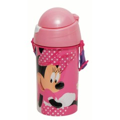 Gourde pop up Minnie Disney Gourde avec une paille rétractable