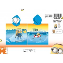 Poncho bath hooded Minions - 820-659