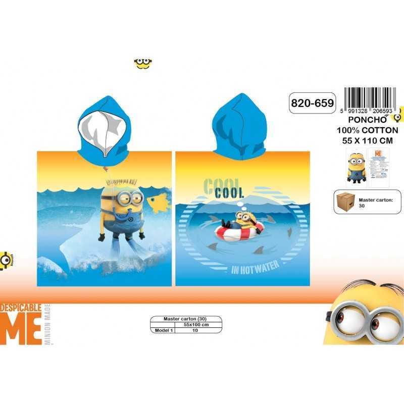 Poncho bath hooded Minions - 820-659
