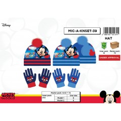 Mickey Disney 2 pezzi Set Mickey Hat and Gloves