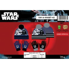 2-piece Star Wars hat and Star Wars gloves