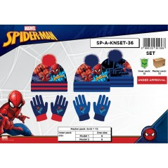 Set-2-piece Spiderman hat and gloves Spiderman