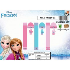 Set 3 piezas Bonnet + bufanda + guantes The Frozen