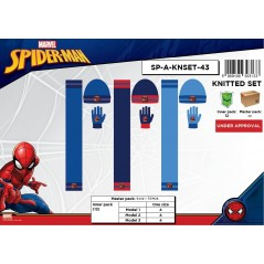Set 3-piece Cap + scarf + gloves Spiderman