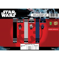Set 3 pièces Star Wars BONNET + GANTS + ECHARPE Star Wars