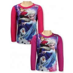 T-shirt Snow Queen manica lunga - frozen disney