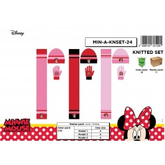 Set de 3 piezas Bonnet + bufanda + guantes Minnie Disney