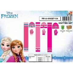 Set 3 pezzi Bonnet + sciarpa + guanti The Frozen - Disney Frozen