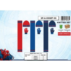 Set 3 pieces Beanie + scarf + Spiderman gloves