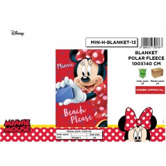 Plaid Polaire Minnie Disney