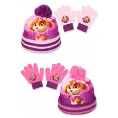 2 Piece Pat'Patrouille Beanie Set and Paw Patrol Gloves for Girl