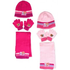 Set 3-piece Cap + scarf + gloves Paw Patrol Girl
