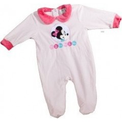 Pajama Sleep Well velvet for baby, model Minnie Disney