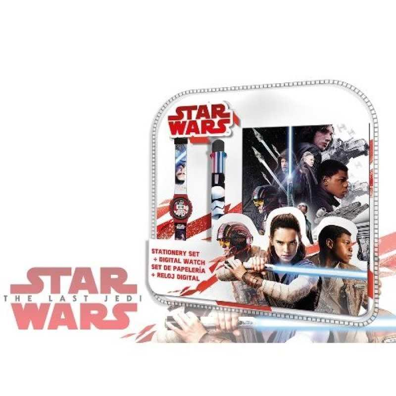 Set Star Wars Bloc Note + montre + stylo 6 couleurs