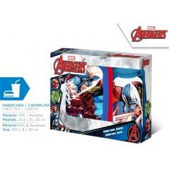 Boîte à goûter PVC + Gourde Avengers