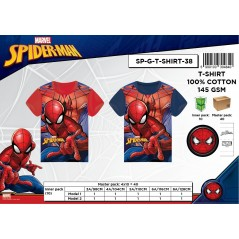 Camiseta de manga corta Spiderman.
