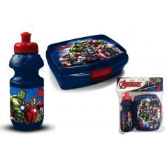 Boîte lunch Avengers et une gourde de 350 ml. Avengers